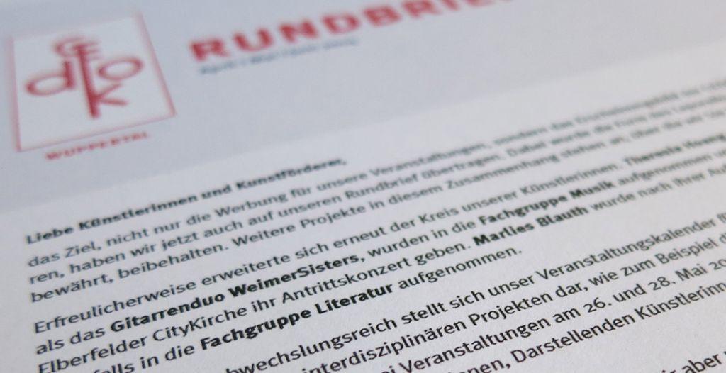 Die Rundbriefe der GEDOK Wuppertal