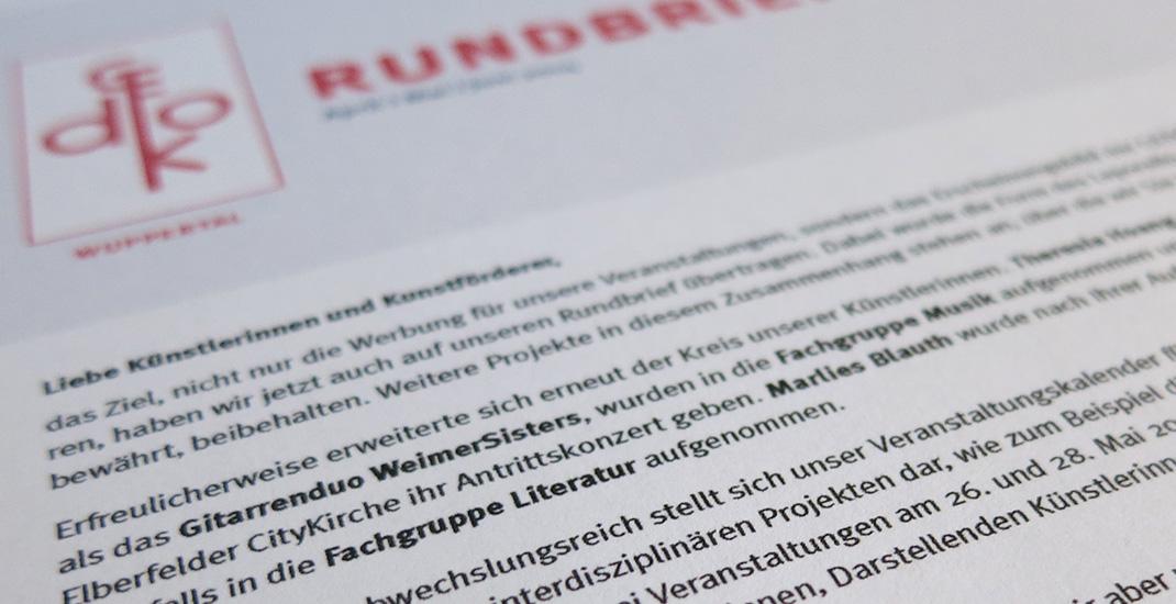 GEDOK Rundbrief